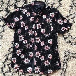Ted Baker London navy floral shirt
